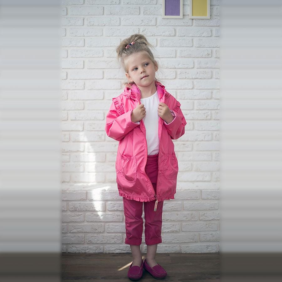 Плащ для девочек «Леля» Ягодный